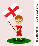 fan of england national... | Shutterstock .eps vector #1066318142