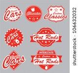 classic car label vector set | Shutterstock .eps vector #106632032