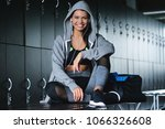 a beautiful fit girl with a... | Shutterstock . vector #1066326608