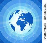 abstract world globe  blue...   Shutterstock .eps vector #1066329602