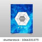 template for brochures  flyers  ... | Shutterstock .eps vector #1066331375
