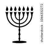 menorah with candles. jewish... | Shutterstock . vector #1066332272