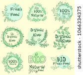 flat label collection of 100... | Shutterstock . vector #1066334375