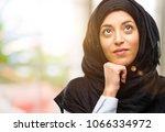 young arab woman wearing hijab... | Shutterstock . vector #1066334972