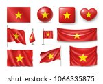 set vietnam flags  banners ... | Shutterstock .eps vector #1066335875