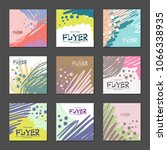 collection of bright abstract... | Shutterstock . vector #1066338935