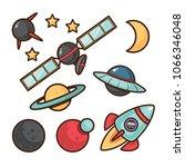 cartoon spaice elemets | Shutterstock .eps vector #1066346048