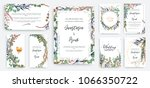 wedding invitation frame set ... | Shutterstock .eps vector #1066350722