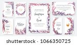 wedding invitation frame set ... | Shutterstock .eps vector #1066350725