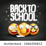 smiley face emoticons and back... | Shutterstock .eps vector #1066356812