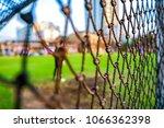 football goal net at the field...   Shutterstock . vector #1066362398