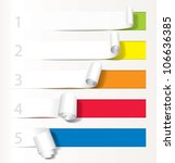 set of paper curl from less to... | Shutterstock .eps vector #106636385
