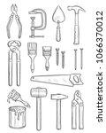 repair tool sketch for... | Shutterstock .eps vector #1066370012