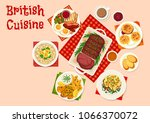 british cuisine breakfast food... | Shutterstock .eps vector #1066370072