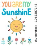 you are my sunshine. poster... | Shutterstock .eps vector #1066387148