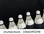 the shuttlecock on dark... | Shutterstock . vector #1066390298