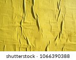 yellow wrinkled creased... | Shutterstock . vector #1066390388