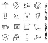 flat vector icon set   umbrella ... | Shutterstock .eps vector #1066394708