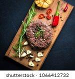 delicious beef burger steak... | Shutterstock . vector #1066412732