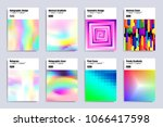 set of holographic abstract... | Shutterstock .eps vector #1066417598