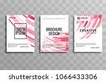 modern business brochure... | Shutterstock .eps vector #1066433306