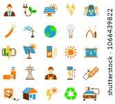 set of solar energy icon. 25...   Shutterstock . vector #1066439822