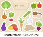 set vegetables | Shutterstock .eps vector #106644692