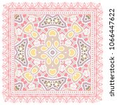 decorative colorful ornament on ... | Shutterstock .eps vector #1066447622