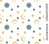 vector flat background. arabic... | Shutterstock .eps vector #1066451045