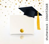 graduate cap and diploma of... | Shutterstock .eps vector #1066452668