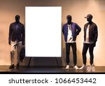 three mens mannequins in the... | Shutterstock . vector #1066453442
