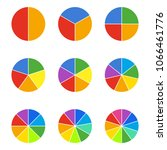 circle segments set. geometry... | Shutterstock .eps vector #1066461776