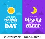 day and night grateful cartoon... | Shutterstock .eps vector #1066468058