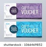 gift voucher template design... | Shutterstock .eps vector #1066469852