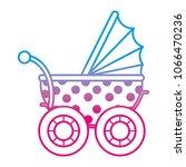 degraded line baby stroller... | Shutterstock .eps vector #1066470236