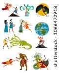 greek myths mythology tales | Shutterstock .eps vector #1066472918