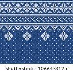norway festive jacquard... | Shutterstock .eps vector #1066473125