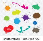 paint splatters set.vector... | Shutterstock .eps vector #1066485722