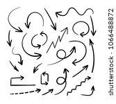 vector hand drawn arrows ... | Shutterstock .eps vector #1066488872