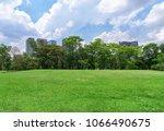 beautiful landscape in park... | Shutterstock . vector #1066490675