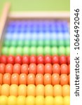 Small photo of Colourful abacus close up view