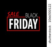 black friday vector template... | Shutterstock .eps vector #1066500122