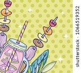 summer time juice cartoon | Shutterstock .eps vector #1066519352
