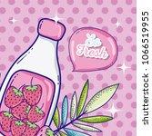 summer time juice cartoon   Shutterstock .eps vector #1066519955