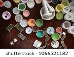 manufacturing of decorations... | Shutterstock . vector #1066521182