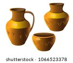 Pot. A Set Of Pottery. Ethnic...