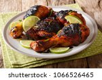 hot spicy grilled chicken... | Shutterstock . vector #1066526465