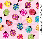 seamless pattern with ladybugs  ... | Shutterstock .eps vector #106652768