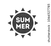 summer retro badge  emblem  logo | Shutterstock .eps vector #1066527785