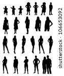 people silhouette | Shutterstock .eps vector #106653092